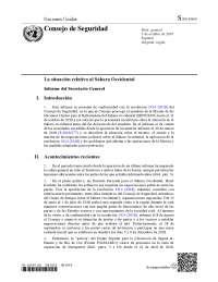 Informe Consejo Seguridad de Naciones Unidas