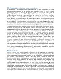 Renaissance Essay - Pontormo