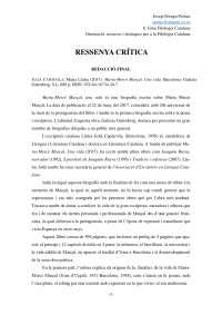 Ressenya crítica Maria-Mercè Marçal