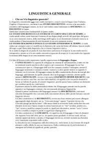Appunti Lezioni Murano di Linguistica Generale