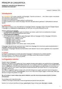 Appunti di linguistica