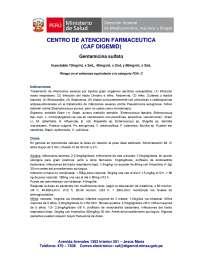Gentamicina Farmacología Medica