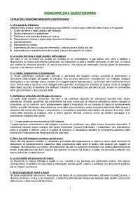 DISPENSA Metodi e tecniche dell'intervista e del questionario, Graffigna-Alfieri