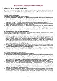 DISPENSA Psicologia dello sviluppo, Miragoli-Di Blasio