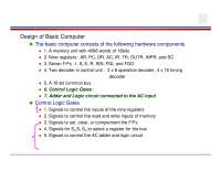 Basic concepts of Accumulator Register, Study notes for Computer System Design and Architecture