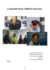 La mujer en el ámbito policial