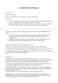 Appunti linguistica generale