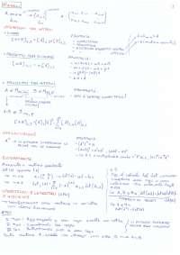 Riassunto algebra lineare e geometria