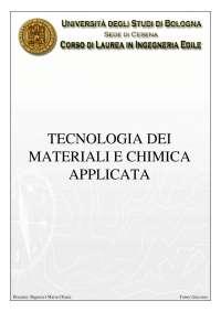 Tecnologia dei materiali e Chimica applicata - Università di Bologna