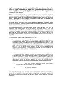 Acción Pauliana DERECHO CIVIL I