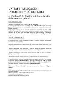 Apuntes Unitat 5 teoria del dret.