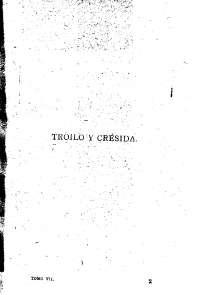 Libro transcrito de Troilo y Crésida-Shakespeare