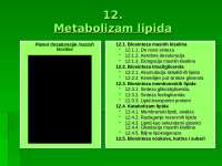 Lipidi metabolizam, skracena verzija, sa predavanja