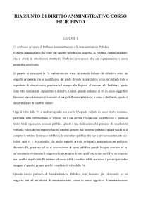 RIASSUNTO CORSO DI DIRITTO AMMINISTRATIVO DEL PROF. PINTO ( SCOCA)