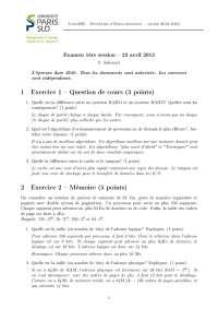 Examen 1ère session - 23 avril 2013