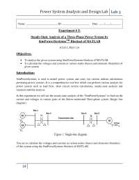 Power System Analysis Lab Manual