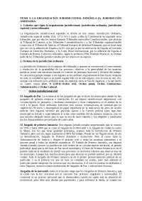 Organizacion jurisdiccional española