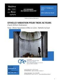Othello variation pour trois acteurs d'après William Shakespeare