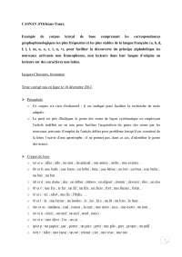 Casnav d'Orléans-Tours. Exemple de corpus lexical de base