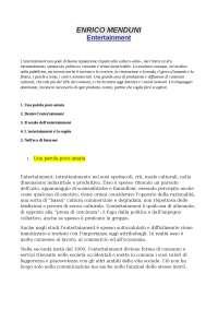 """Entertainment"" - Enrico Menduni"