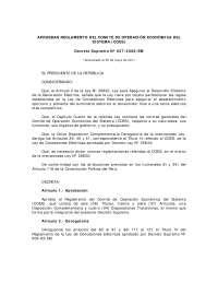 Reglamento del COES, Actualizado