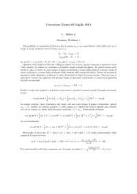 Prove d'esame di Fisica 1 (luglio 2016) con correzione
