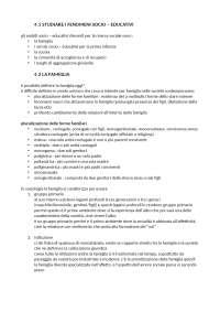 SOCIOLOGIA DELL'EDUCAZIONE - prof. Barabanti