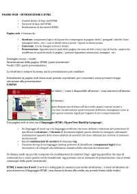 Riassunto Laboratorio HTML e CSS prof Silvello