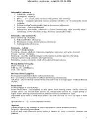 Informatika sa predavanja, Beleške' predlog Informatika