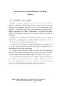Regolamento Scienze Motorie Unipegaso Docsity