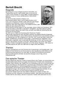 Lemo Biografie Biografie Bertolt Brecht