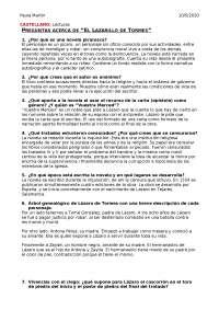 Preguntas Resumen El Lazarillo De Tormes Docsity