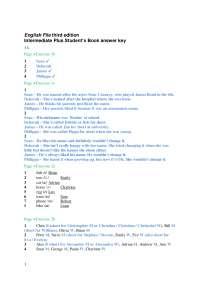 English File Intermediate Thir Edition Answer Key Docsity