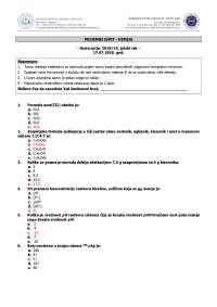 Prijemni Test Iz Biologije Hemije I Matematike Za Upis Na Farmaceutski Fakultet Tuzla Prijemni Ispiti Predlog Uvod U Prirodne Nauke Docsity