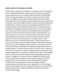 """Parafrasi lettera: """"a don Benedetto Castelli"""" di Galileo ..."""