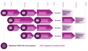 Comparison between SAT, GRE, ACT, TOFEL and IELTS