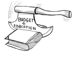 education budget cut down in Spain