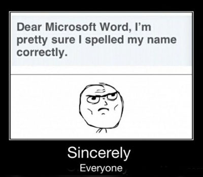 name correction,10 Microsoft Word Nightmares you will definitely experience as a science student