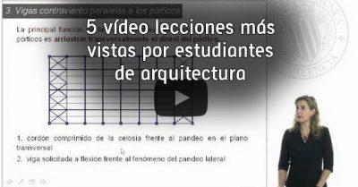 5 vídeo lecciones más vistas por estudiantes de arquitectura