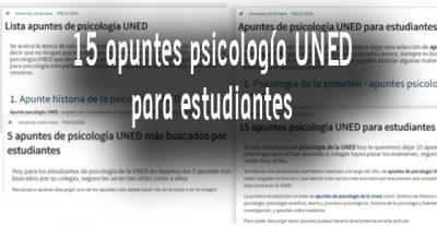 15 apuntes psicología UNED para estudiantes