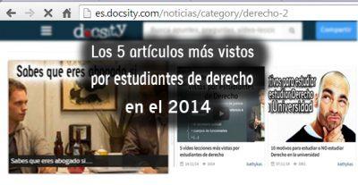 Los 5 artículos más vistos por estudiantes de Derecho en el 2014
