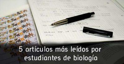 5 artículos más leídos por estudiantes de biología en el 2015