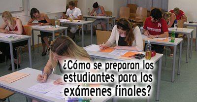 ¿Cómo se preparan los estudiantes para los exámenes finales?