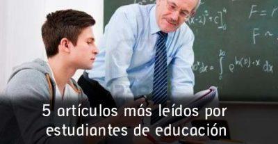 5 artículos más leídos por estudiantes de educación en el 2015