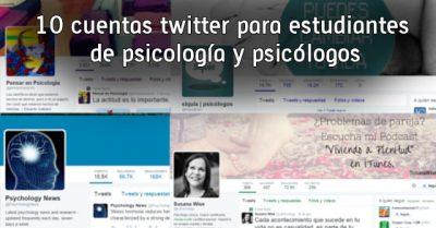 10 cuentas twitter para estudiantes de psicología y psicólogos