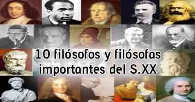 10 Filósofos y filósofas importantes del S XX