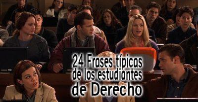 24 frases típicas de los estudiantes de Derecho