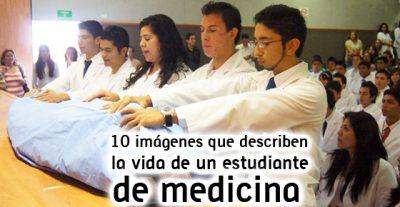 10 imágenes que describen la vida de un estudiante de medicina