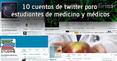 10 cuentas de twitter para estudiantes de medicina y médicos