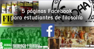 5 páginas Facebook para estudiantes de filosofía